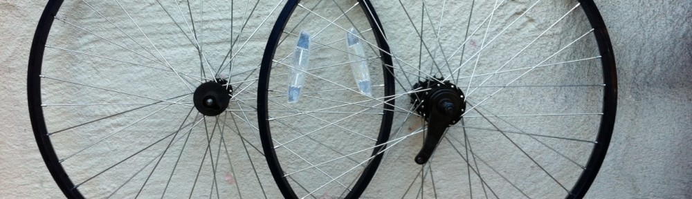 Alloy 26 cruiser wheel set for Motorized bicycle repair shop