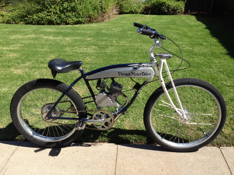 Custom Motorized Bicycles Sales Repair Parts Bicycle Engine Kits California Los Angeles Venice Santa Monica