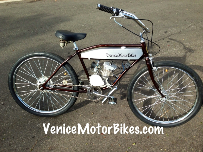 Venice motor bikes bicycling and the best bike ideas for Custom motorized bicycles parts